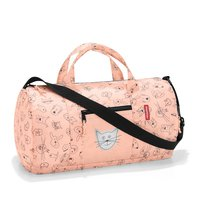 Duffle Bag S Mini Maxi Kids Cats and Dogs Pink