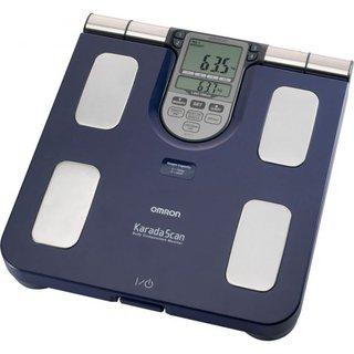 Körperfettmessgerät HBF-511 mit Waage blau